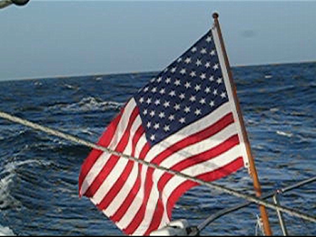 US Flag in Breeze