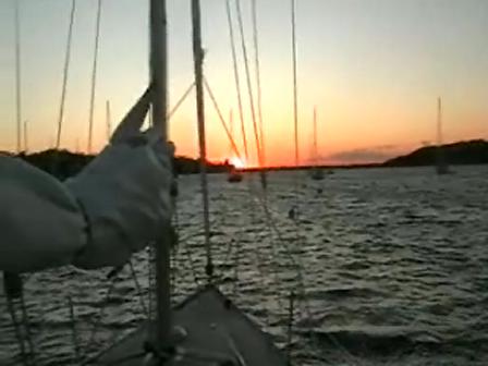Sun set at Cuttyhunk Ma.