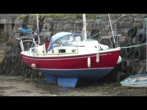 Sailing Eden - Launching Eden a McWester Ketch Sail Boat at Mullaghmore Co. Sligo Ireland