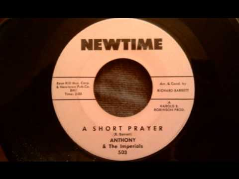 Anthony and The Imperials - A Simple Prayer - Rare 60's Doo Wop Ballad