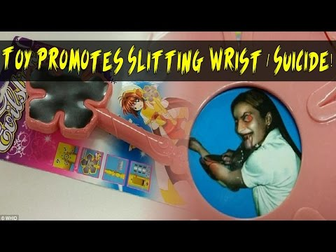 Princess Wand Children's Toy Promotes Slitting Wrist / Suicide