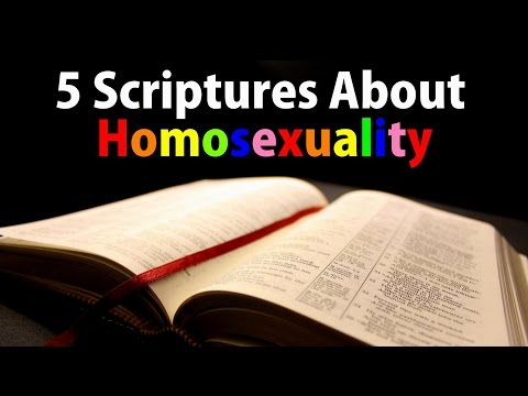 5 Scriptures About Homosexuality