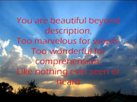 Beautiful Beyond Description (I Stand in Awe of You) - Beth Croft - Lyrics