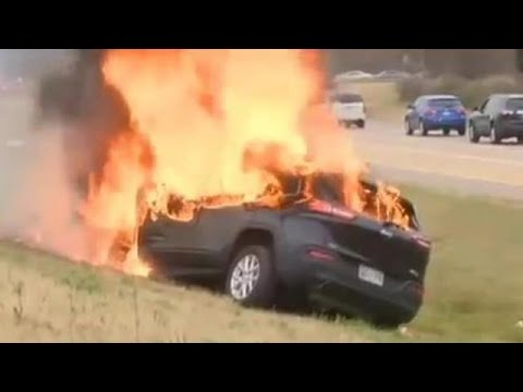 Man MIRACULOUSLY SAVED from Burning Jeep | GOD IS REAL !!!