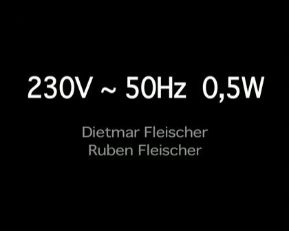 230V ~ 50Hz 0,5W