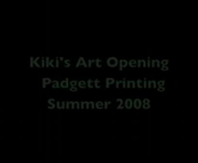Kiki's art opening