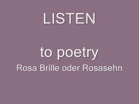 Rosa Brille oder Rosasehn, SNA 2010