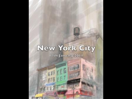 iPad New York street scene