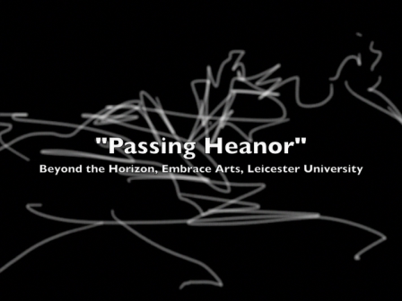 "iPod drawings ""Passing Heanor"" at Embrace Arts, The University of Leicester"