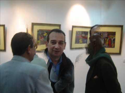 معرض الرسام الشعبى بنقابة الصحفيين.wmv