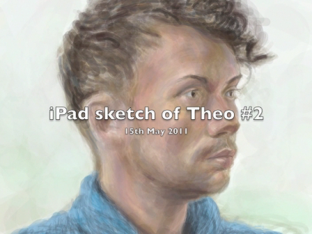 iPad sketch - Portrait of Theo #2