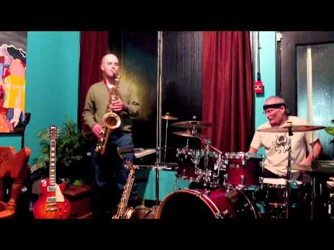Mark Dicey and Lyle Pisio at Weeds Cafe in Calgary, AB