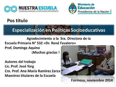 Curso: Especialización Docente en  Políticas Socio educativas. Modulo