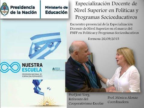 Especialización Docente de Nivel Superior en Políticas y Programas Socioeducativos