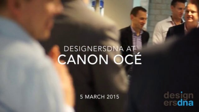DesignersDNA Think Tank at Canon Océ