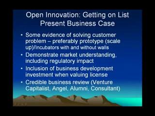 Tech Transfer (T2): NCET2 - Enabling Open Innovation