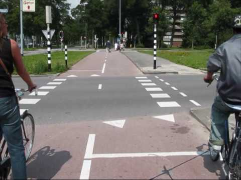 Cycling and big intersections in the Netherlands