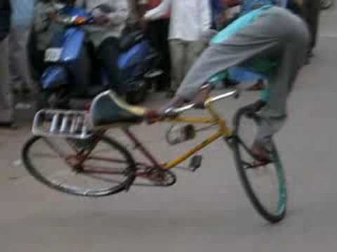 CYCLE STUNT BY A OLD MAN