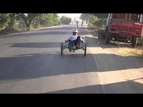 First recumbent trike of INDIA