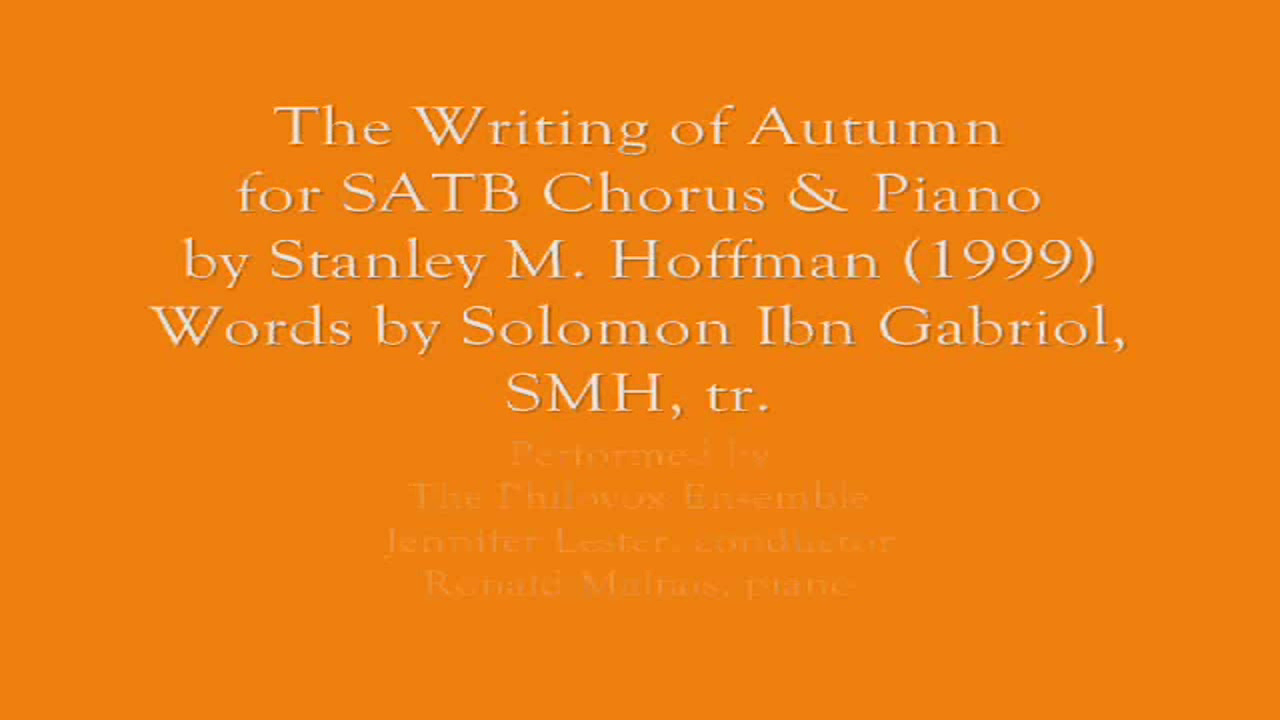 Writing of Autumn