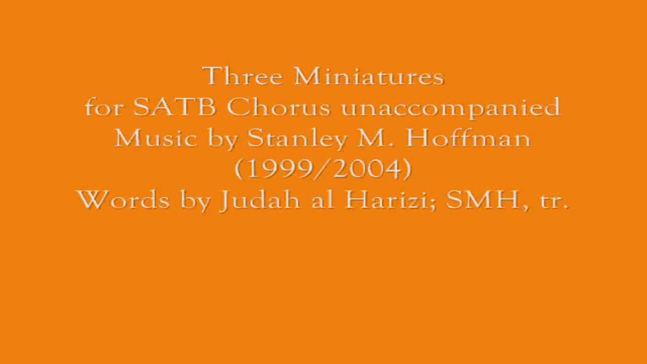 Three Miniatures SATB