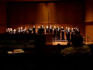 "The Claremont Chamber Choir performs ""The Tree"""