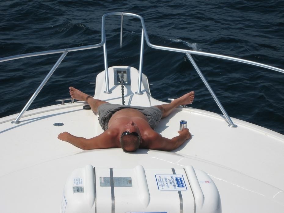 Joe on Boat