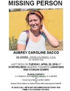 Aubrey Sacco Missing Poster