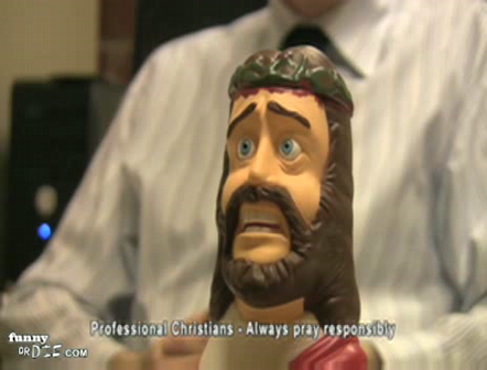 The Submissive Jesus Talking Prayer Answering Head novelty