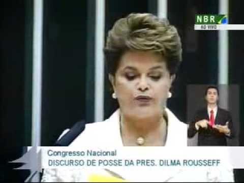 """Íntegra do discurso de posse da presidente Dilma Rousseff, proferido no Congresso Nacional.""""Mulher não é só coragem. É carinho também"""""""