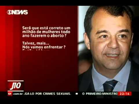 Sérgio Cabral fala sobre ABORTO