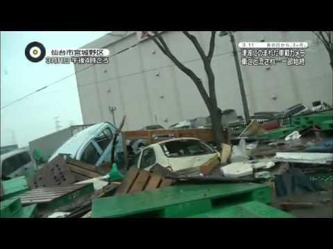 Tsunami No Japão Vista De Dentro De Um Carro