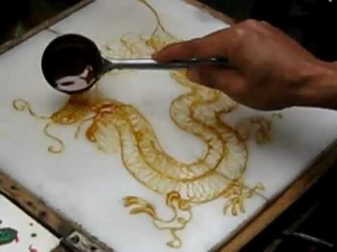 A pintura com açúcar