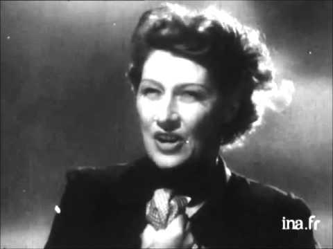 Germaine Sablon - Le chant des partisans [video 1963]