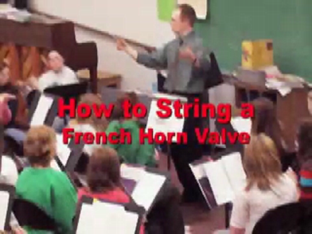 How To String a French Horn Valve