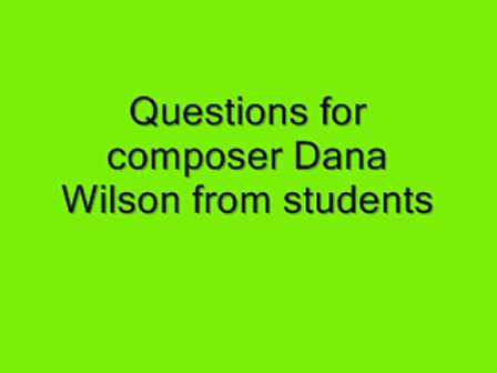 Students question Dana Wilson