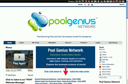 Introduction to the Pool Genius Network for Non Members