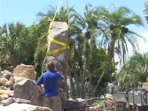 Building a Natural Stone Grotto Water Feature for a Lagoon Style Swimming Pool