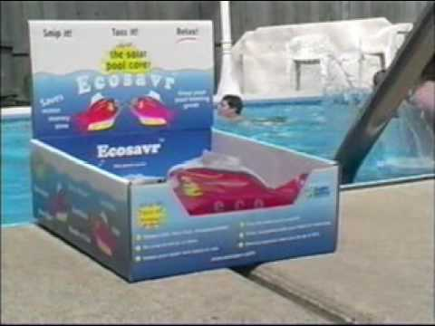 Ecosavr & Heatsavr Demonstration: the original liquid solar pool cover in action