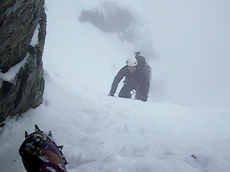 Colin and I soloing up Gardyloo Gully - North Face of Ben Nevis