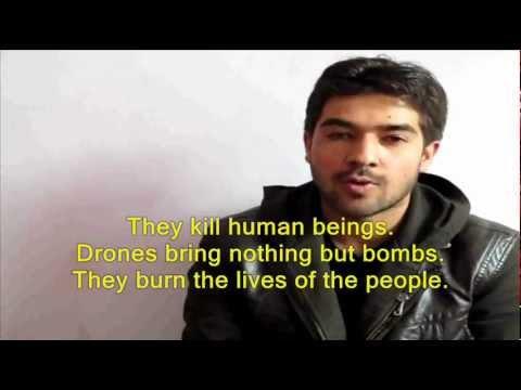Afghan Peace Volunteer says drones bury beautiful lives
