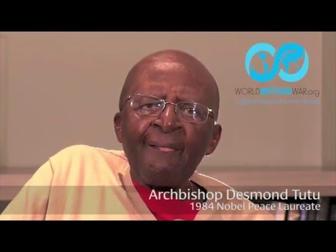 "Desmond Tutu on ""World Beyond War"" 3-Day Conference, September 2016"