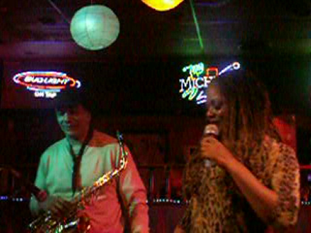 Sheila Ford with T. K. Blue