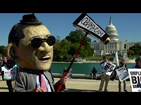 """What We Saw At The Anti-NSA """"Stop Watching Us"""" Rally"""