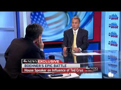 John Boehner HEATED Debate with George Stephanopoulos WILL NOT PASS CLEAN CR ABC #thisweek