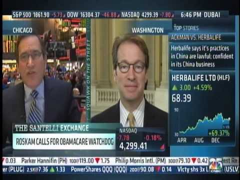 WE MUST HAVE Obamacare Watchdog:Peter Roskam CNBC