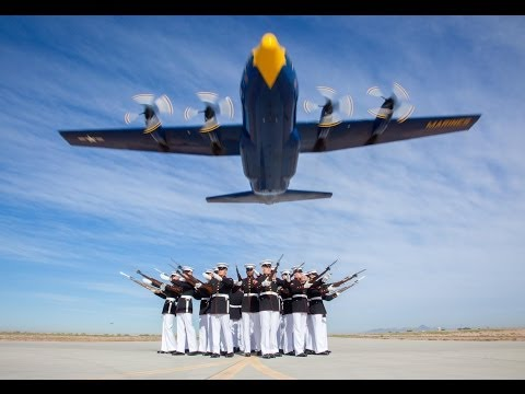 Blue Angels Fat Albert And Silent Drill Platoon