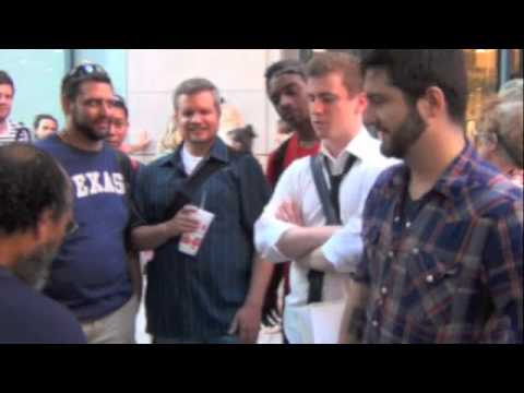 "Chicago Chick-fil-A Kiss-In Protesters ""Chalk"" Homeless Street Preacher"