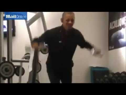 Obama Pumping Iron at the GYM (with Benny Hill accompaniment)