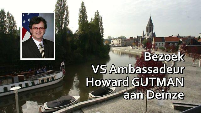 Ambassadeur Gutman bezoekt Deinze